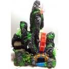 Aquarium Fantasy Rock And Water Wheel Ornament Fish Tank Decoration L3