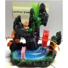 Aquarium Fantasy Rock And Water Wheel with Air Tunnel Fish Tank Decoration